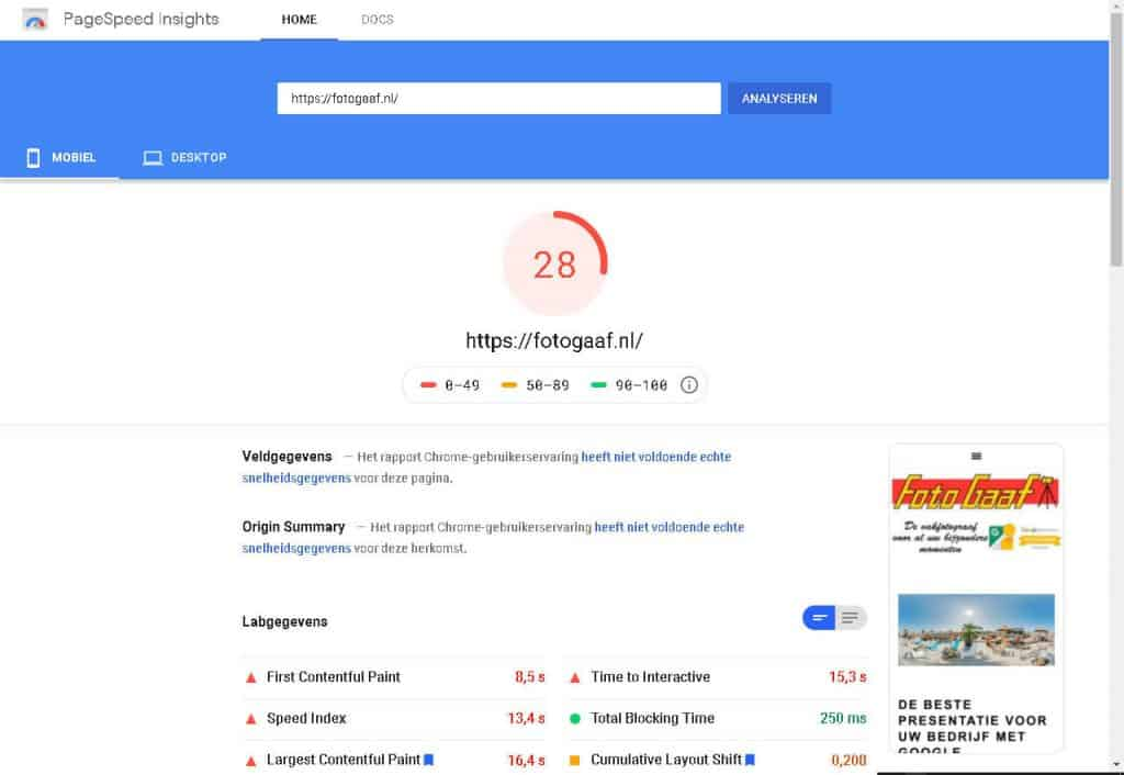 fotogaaf-pagespeed-oud