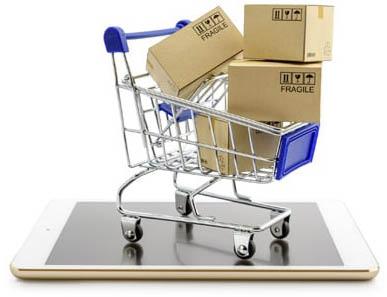 Online shopping or ecommmerce met een betaalbare webshop